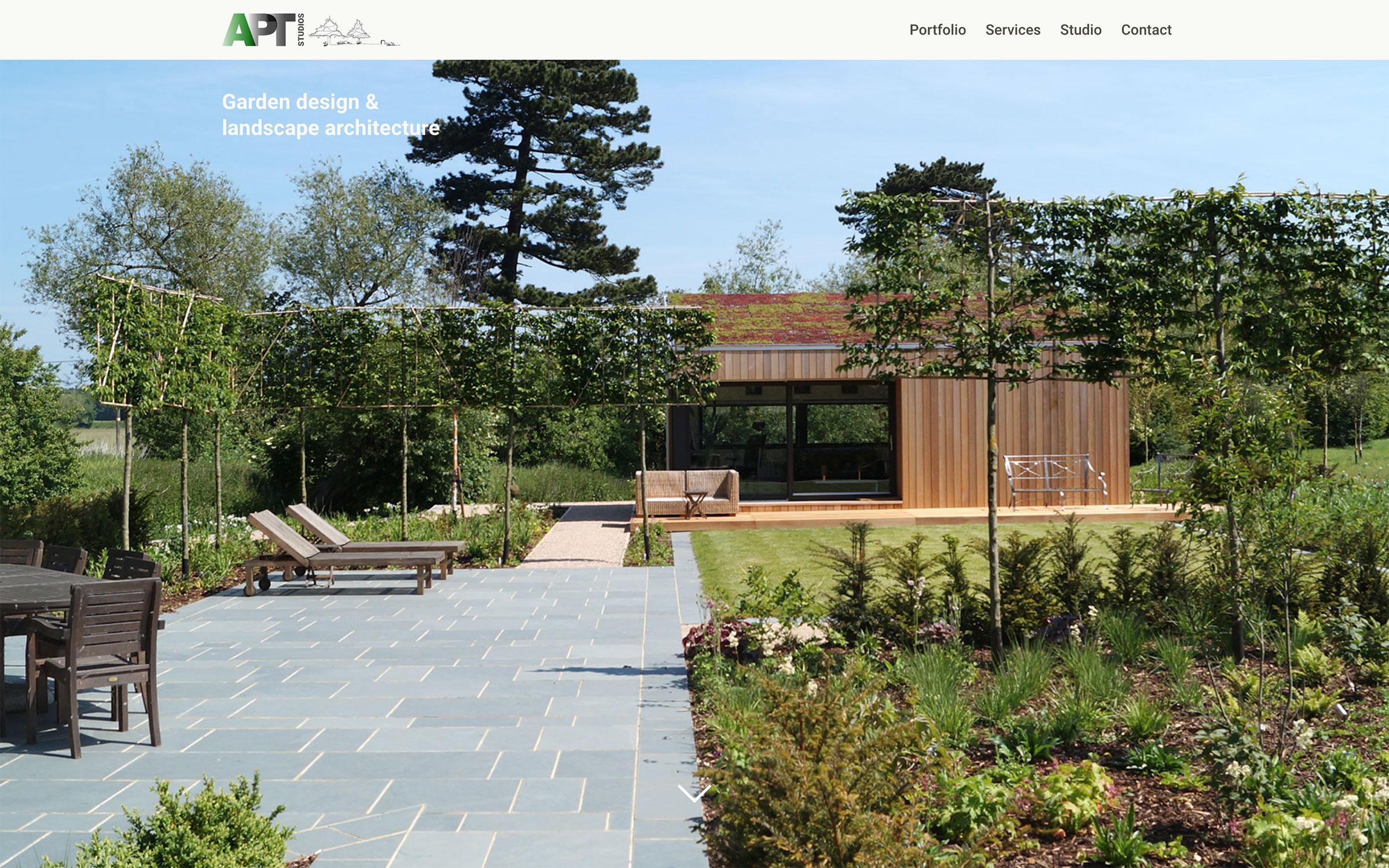AptStudios.co.uk Website Design: Homepage