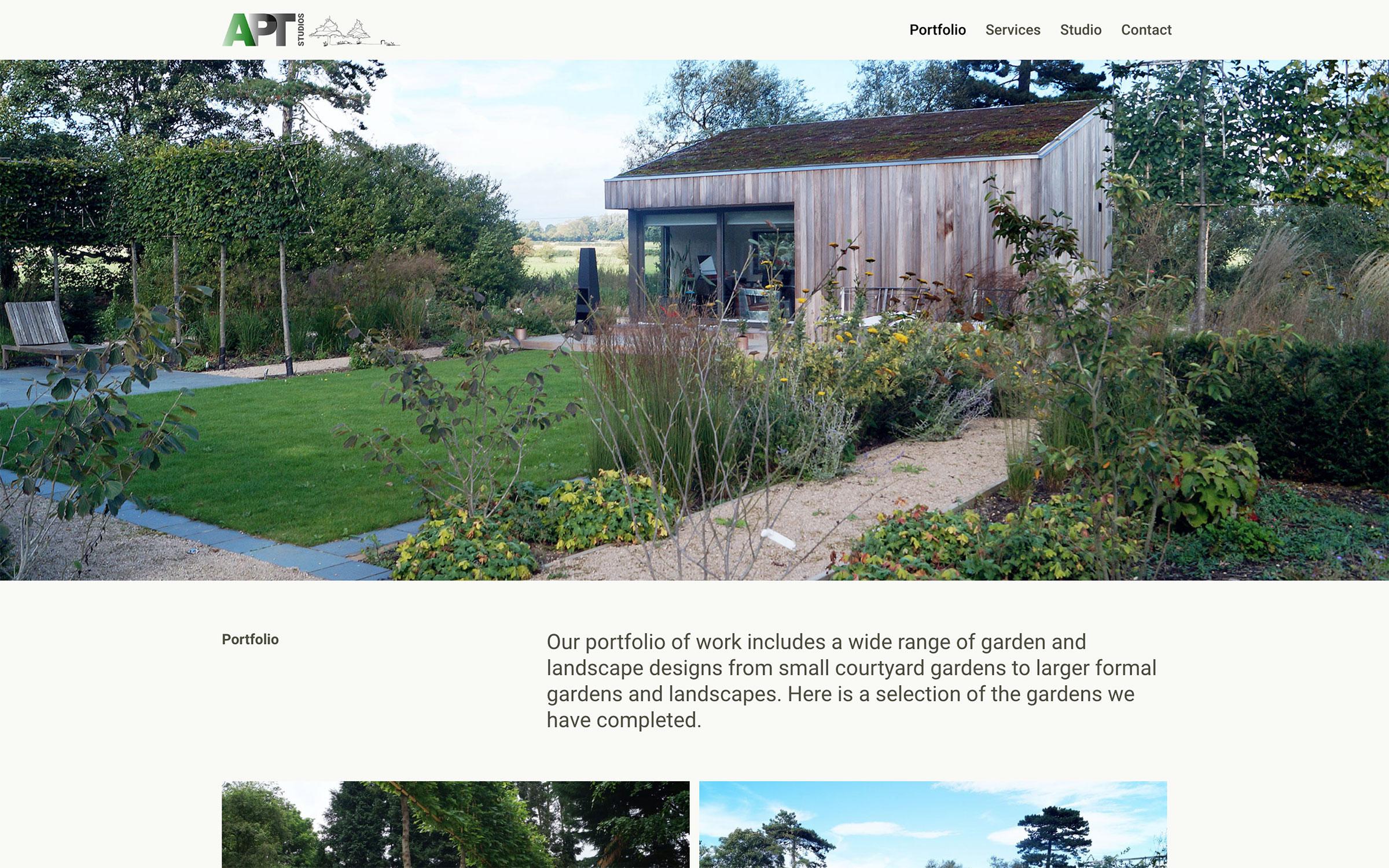 AptStudios.co.uk Website Design: Portfolio Page